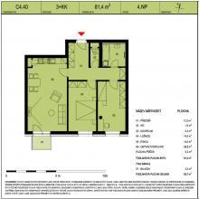 Prodej nového bytu 3+kk s balkonem + vnitřní garážové stání - Hradec Králové – MP