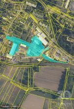 Zemědělský areál - silo v Kostelci nad Orlicí