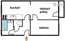 Zděný byt 2+1 s balkonem, k rekonstrukci